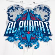 Design ~ Alphacat Men's White Hoodie
