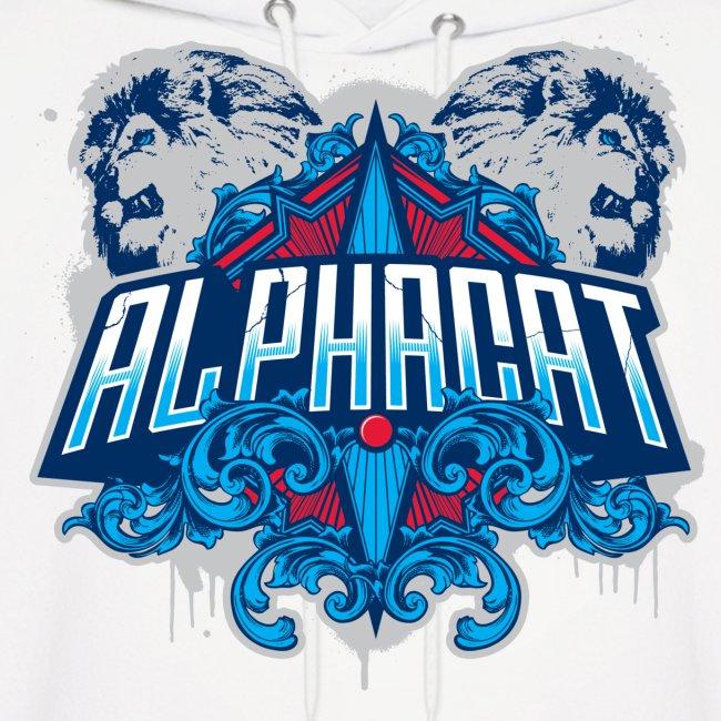 Alphacat Men's White Hoodie