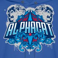 Design ~ Alphacat Men's Hooded Sweatshirt - Royal Blue
