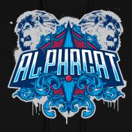 Design ~ Women's Alphacat Hooded Sweatshirt - Black