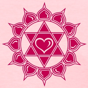 LOTUS OF THE HEART - Heart chakra - Anahata, c, Centre of love and compassion, powerful symbol Women's T-Shirts - Women's T-Shirt