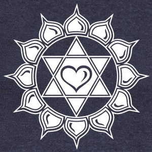 LOTUS OF THE HEART - Heart chakra - Anahata, c, Centre of love and compassion, powerful symbol Long Sleeve Shirts - Women's Wideneck Sweatshirt