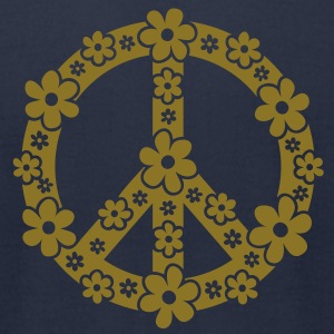 PEACE SYMBOL - peace sign, c, symbol of freedom, flower power, hippie, 68er movement, Woodstock T-Shirts - Men's T-Shirt by American Apparel