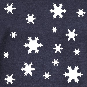 snowflakes Long Sleeve Shirts - Women's Wideneck Sweatshirt