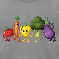 Design ~ Men's Veggie Rainbow T-Shirt