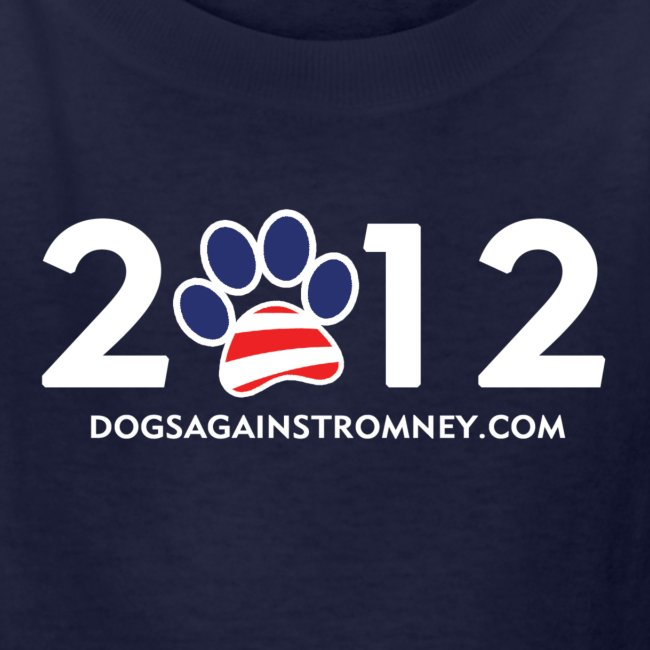"Official Dogs Against Romney ""2012"" Kid's T-Shirt"