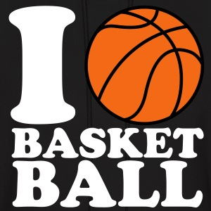I Love Basketball V2 Hoodies - Men's Hoodie