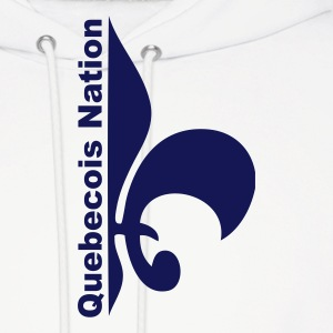 White Quebecois Nation Sweatshirt - Men's Hoodie