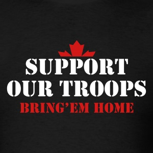 Black Support Our Troops Bring them home T-Shirts - Men's T-Shirt