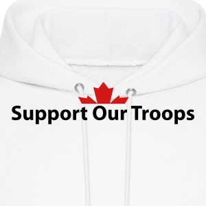 White Support Our Troops Hoodies - Men's Hoodie