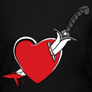 Heart and Knife - Women's Long Sleeve Jersey T-Shirt