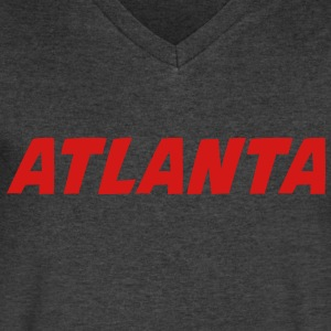 ATLANTA T-Shirts - Men's V-Neck T-Shirt by Canvas