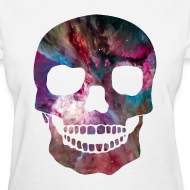 Design ~ COSMIC SKULL - LADIES TSHIRT
