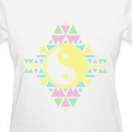 Design ~ AZTEC YING-YANG - LADIES TSHIRT