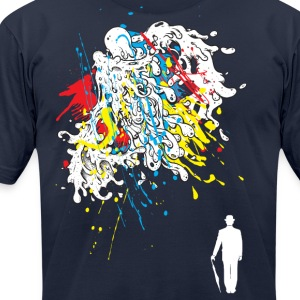 Man in the Rain T-Shirts - Men's T-Shirt by American Apparel