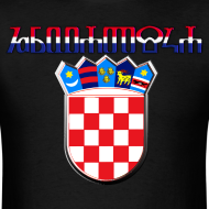 Design ~ Hrvatska Croatia glagoljica Sahovnica grb 3D