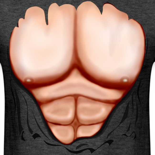 Ripped Muscles, six pack, chest T-shirt