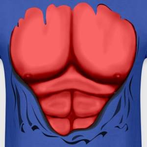 Ripped Muscles Red, six pack, chest t-shirt - Men's T-Shirt