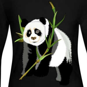 Panda - Women's Long Sleeve Jersey T-Shirt