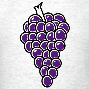 bunch of fruit grapes hanging on a vine wine T-Shirts - Men's T-Shirt