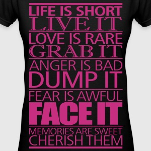 life_is_short - Women's V-Neck T-Shirt