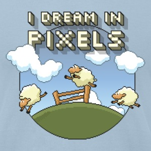 I Dream in Pixels - Men's T-Shirt by American Apparel