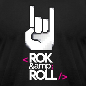 Rok & Roll - Men's T-Shirt by American Apparel