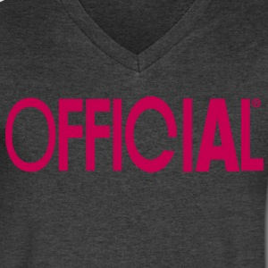 OFFICIAL T-Shirts - Men's V-Neck T-Shirt by Canvas