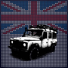 Union Jack Land Rover Defender