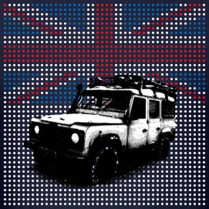 Union Jack Land Rover Defender - Men's T-Shirt