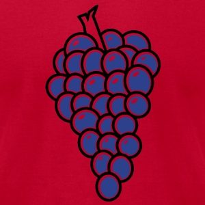 bunch of fruit grapes hanging on a vine wine T-Shirts - Men's T-Shirt by American Apparel