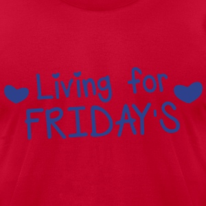 living for fridays with love hearts T-Shirts - Men's T-Shirt by American Apparel