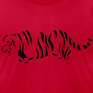 TIGERS stripes  T-Shirts - Men's T-Shirt by American Apparel