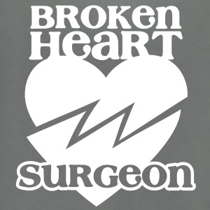 Broken heart surgeon funny design for anyone out of luck with Romance Zip Hoodies/Jackets - Unisex Fleece Zip Hoodie by American Apparel