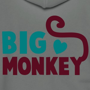 BIG MONKEY with a tail and a love heart good family design Zip Hoodies/Jackets - Unisex Fleece Zip Hoodie by American Apparel