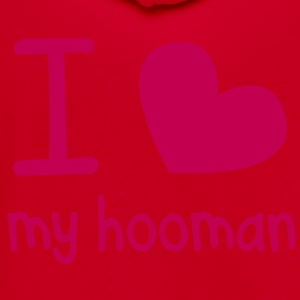 I love heart MY HOOMAN (human) perfect for that pet shirt Zip Hoodies/Jackets - Unisex Fleece Zip Hoodie by American Apparel