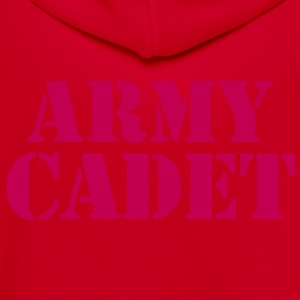 army cadet in stencil Zip Hoodies/Jackets - Unisex Fleece Zip Hoodie by American Apparel