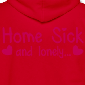 HOME SICK and lonely with cute little love hearts Zip Hoodies/Jackets - Unisex Fleece Zip Hoodie by American Apparel