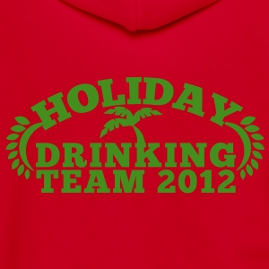 HOLIDAY DRINKING team 2012 with a palm tree great for holiday t-shirt Zip Hoodies/Jackets - Unisex Fleece Zip Hoodie by American Apparel
