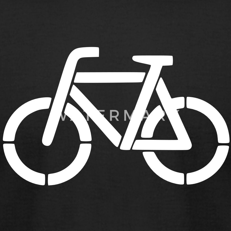 bicycle stencil T-Shirts - Men's T-Shirt by American Apparel