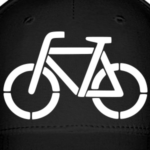 bicycle stencil Caps - Baseball Cap