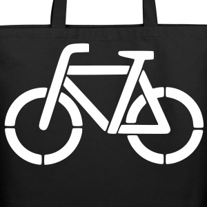 bicycle stencil Bags  - Eco-Friendly Cotton Tote