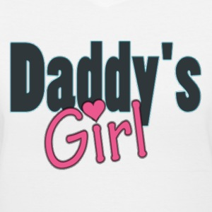 daddy's girl Women's T-Shirts - Women's V-Neck T-Shirt