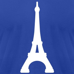 Eiffel Tower Paris T-Shirts - Men's T-Shirt by American Apparel