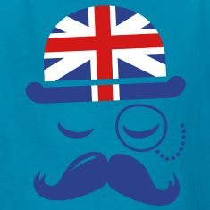 Vintage English Gentleman Sir Boss with Moustache Kids' Shirts