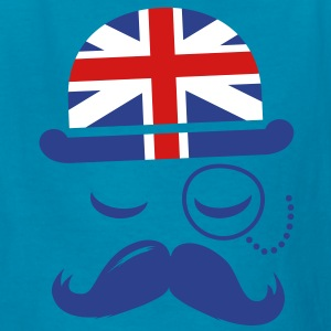 Vintage English Gentleman Sir Boss with Moustache Kids' Shirts - Kids' T-Shirt
