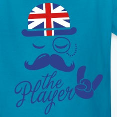 England Fashionable Gentleman Sir champion player sports olympics sporting moustache Kids' Shirts