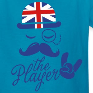 England Fashionable Gentleman Sir champion player sports olympics sporting moustache Kids' Shirts - Kids' T-Shirt