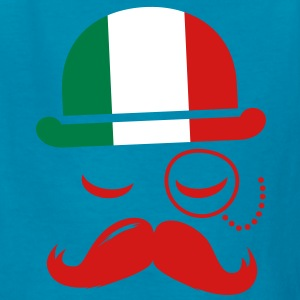 Italian nation fashionable vintage iconic gentleman with flag and Moustache olympics sports italy country Kids' Shirts - Kids' T-Shirt