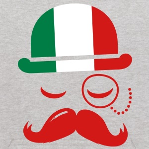 Italian nation fashionable vintage iconic gentleman with flag and Moustache olympics sports italy country Sweatshirts - Kids' Hoodie